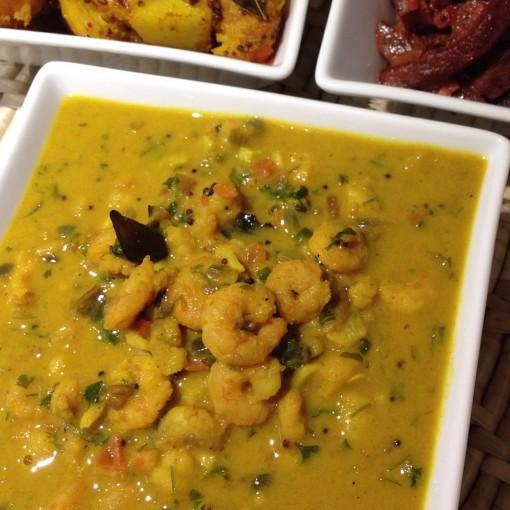 Sri Lankan Hari Hari Prawn Curry