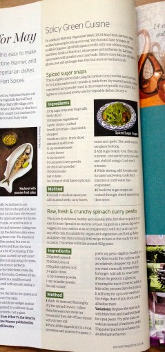 May Dorset Magazine featuring Hari Hari recipes