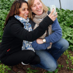 Jane & I in the Spinach poly tunnel