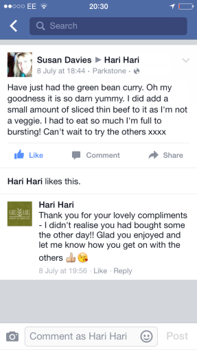 Hari Hari SriLankan Curry Review