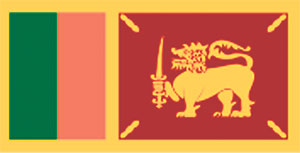 Lion Flag of Ceylon 1951-1972 Sri Lanka