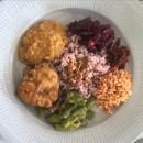 Sri Lankan Red Rice Curry Feast
