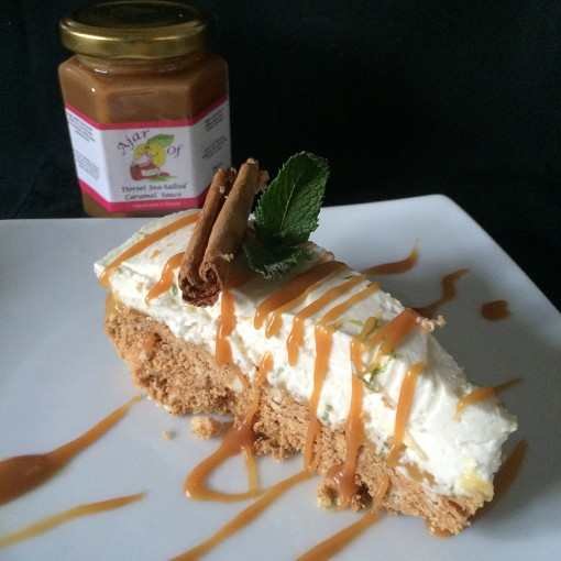 Colombo Gin Cheesecake with Salted Caramel